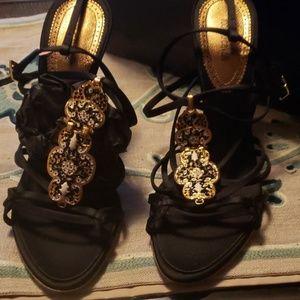 Roberto Cavalli. Sandals/heels ,fits like an us 8